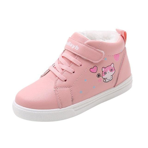 Little Bumper Girl Shoes Pink / 35 / United States Warm Soft Cartoon Cat Short Boots