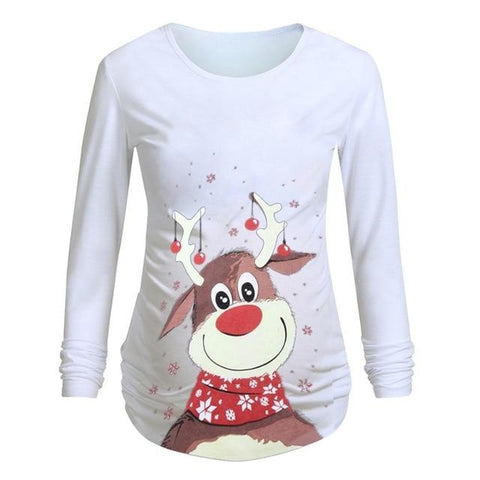 Image of Little Bumper Girls Clothes D / XL / United States Pregnant Woman  Long Sleeve T Shirt Dress