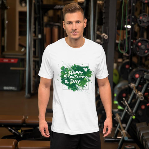"Image of Little Bumper ""Happy St. Patrick's Day"" Short-Sleeve Unisex T-Shirt"