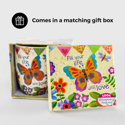 Image of Little Bumper Home & Garden - Home Decor Inspirational Beautiful Butterfly Boxed Mug, 12oz