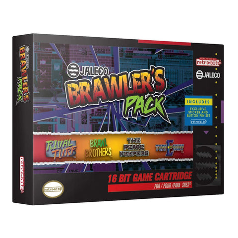 Little Bumper Kids & Babies 4-in-1 Brawler's Pack Games Set for Super Nintendo
