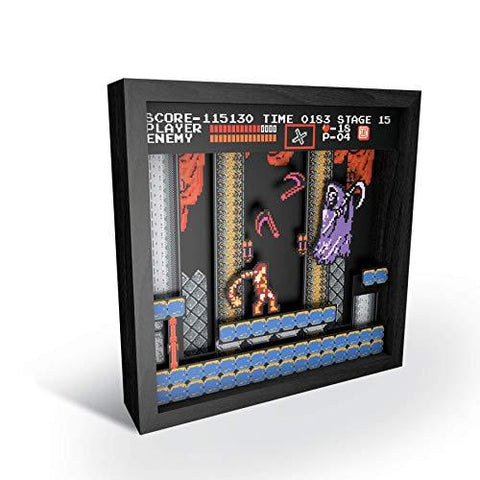 "Image of Little Bumper Kids & Babies Castlevania ""Grim Reaper"" Pixel Frames Shadow Box"