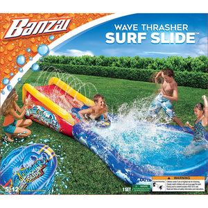 Little Bumper Kids & Babies Wave Crasher Surf Slide-Pool & Slide Combo Fun