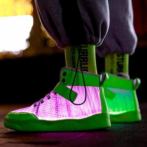 Image of Little Bumper Kids Shoes Fiber Optic USB Rechargeable Glowing Shoes