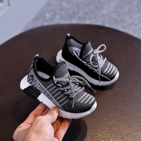 Image of Little Bumper Kids Shoes Gray / 21 (Insole 13.5CM) Breathable Children's Non-slip Soft Sneakers