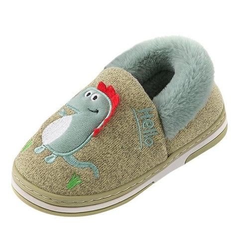 Little Bumper Kids Shoes Green / 24 / United States Indoor Dinosaur Flock Warm  Shoes
