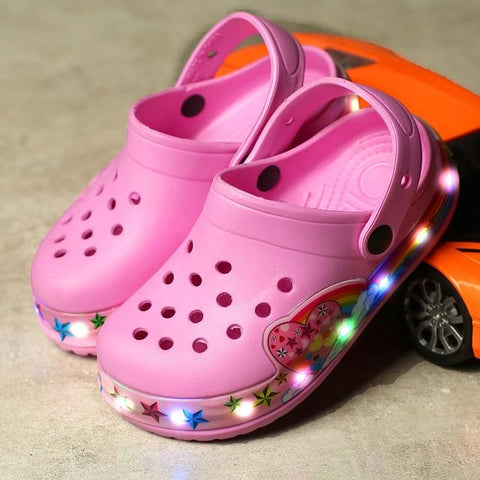 Image of Little Bumper Kids Shoes Pink / 26 (Insole 15.5cm) Cartoon Led Sandals for Children