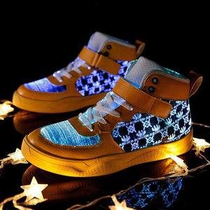 Little Bumper Kids Shoes Yellow / 6.5 Fiber Optic USB Rechargeable Glowing Shoes