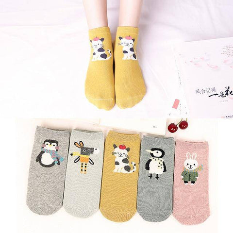 Little Bumper Kids Socks XG22 / 5Pairs(for6-12years) / United States Kids Soft Cotton Seamless Ankle Socks - 5 Pairs