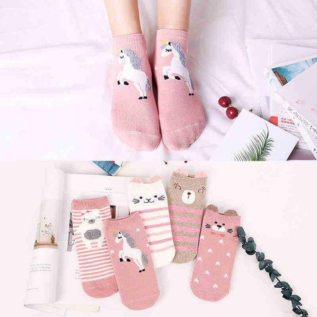 5Pairs Infant Baby Kids Low Cut Socks Soft Breathable Ankle Socks LR