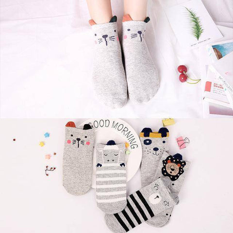 Little Bumper Kids Socks XG25 / 5Pairs(for6-12years) / United States Kids Soft Cotton Seamless Ankle Socks - 5 Pairs