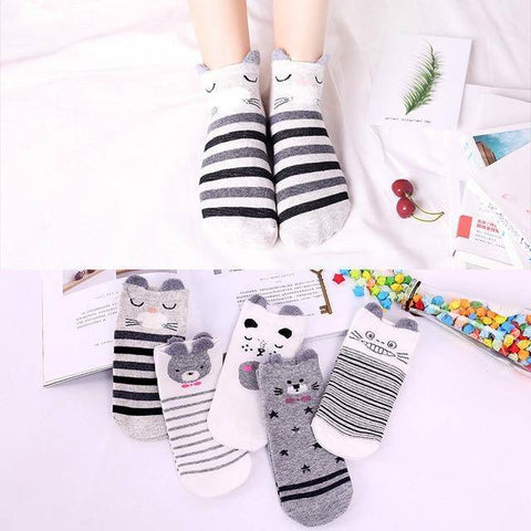 Little Bumper Kids Socks XG30 / 5Pairs(for6-12years) / United States Kids Soft Cotton Seamless Ankle Socks - 5 Pairs