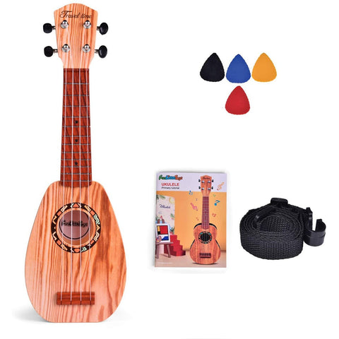 "Image of Little Bumper Kids Toys 17"" Burlywood Ukulele Musical Instrument for Kids with Tutorial"