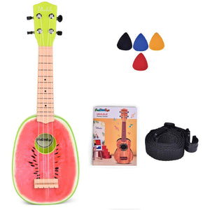"Little Bumper Kids Toys 21"" Watermelon Ukulele Toy for Boys & Girls with Tutorial"