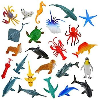 Image of Little Bumper Kids Toys 24 Pack Mini Sea Animal Toy Figures
