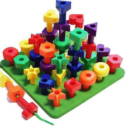 Image of Little Bumper Kids Toys 36 pcs Stacking Peg Board Set for Toddlers 2 years+