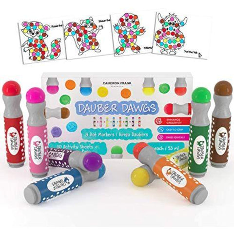 Little Bumper Kids Toys Kids Art 8 Pack Washable Dot Markers