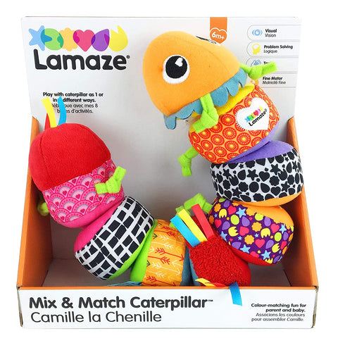 Little Bumper Kids Toys Multi Parts Mix & Match Caterpillar Soft Toy