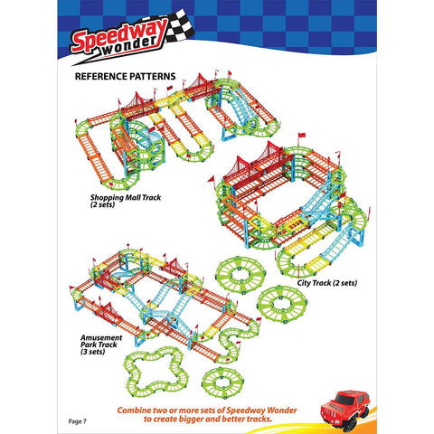 Image of Little Bumper Kids Toys Speedway Wonder 92 Piece Car Track Toys