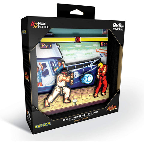 "Little Bumper Kids Toys ""Street Fighter"" Pixel frame- Boat Scene"