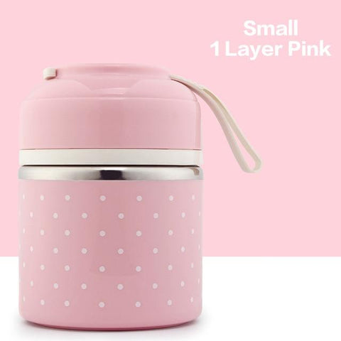 Image of Little Bumper Kitchen Dining 1 Layer 2 / With Gray Bag Kids Portable Stainless Steel Bento Box