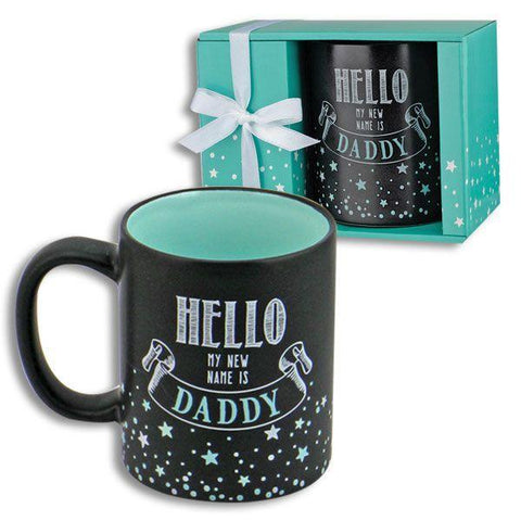 "Little Bumper Kitchen Dining 2 pack ""Hello My Name is Mommy"" & ""Hello My Name is Daddy"" Mug Set"
