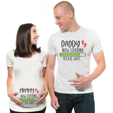 Little Bumper Matching Sets Funny Couple Pregnant Matching Shirts