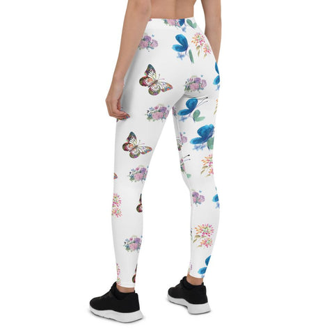 Little Bumper Mommies Clothes Floral Butterfly Leggings