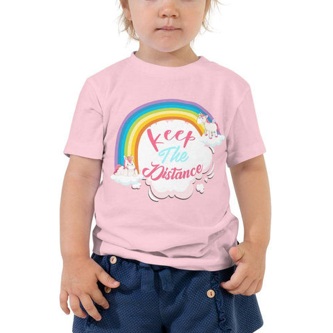 Little Bumper Toddler Tee Pink / 2T Keep the Distance Toddler Tee