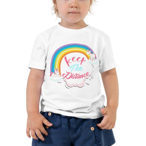 Little Bumper Toddler Tee White / 2T Keep the Distance Toddler Tee