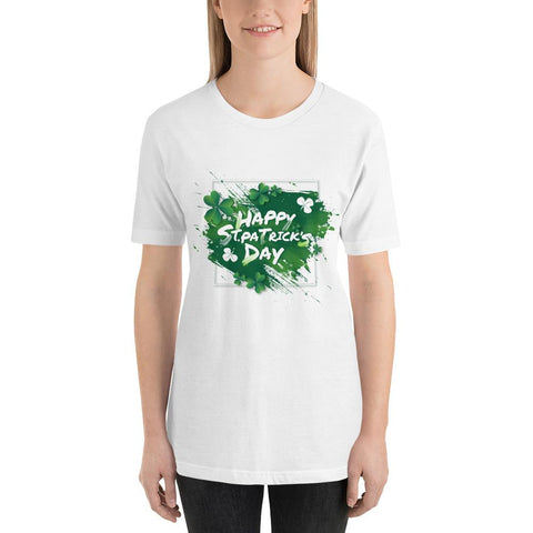 "Image of Little Bumper White / XL ""Happy St. Patrick's Day"" Short-Sleeve Unisex T-Shirt"
