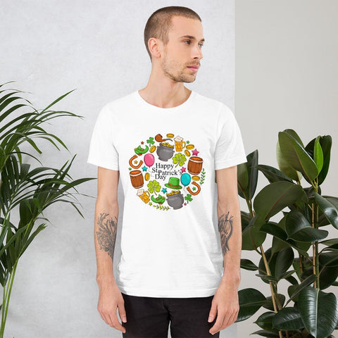 Image of Little Bumper White / XS Happy St. Patrick's Day Short-Sleeve Unisex T-Shirt