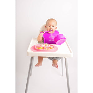 MyLittleBumper Feeding Pink-Purple Little Bumper Silicone Baby Feeding Set