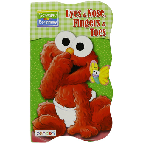 "Image of Sesame Beginnings ""Eyes & Nose, Fingers & Toes"" Book for Kids"