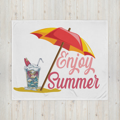 Enjoy Summer 2 Throw Blanket