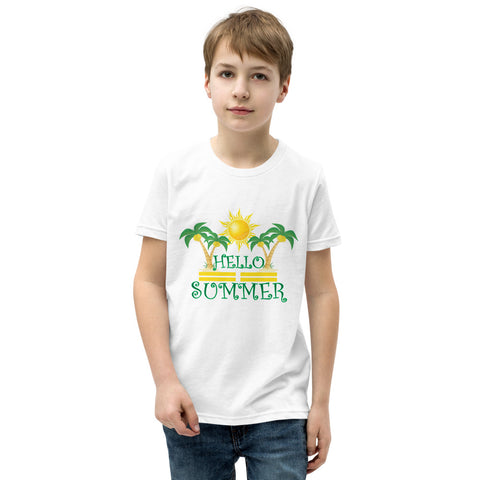 Hello Summer Youth Short Sleeve T-Shirt