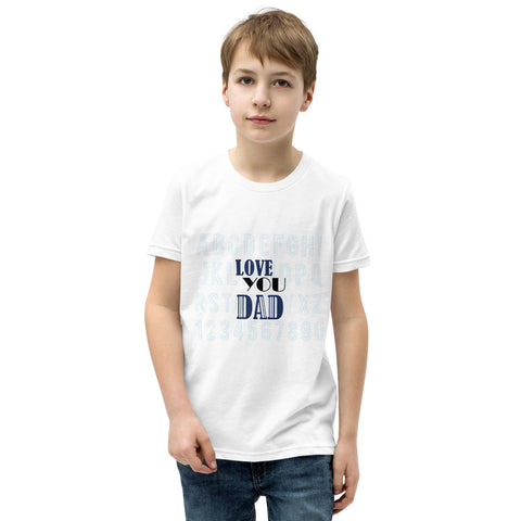 Love You Dad Youth Short Sleeve T-Shirt