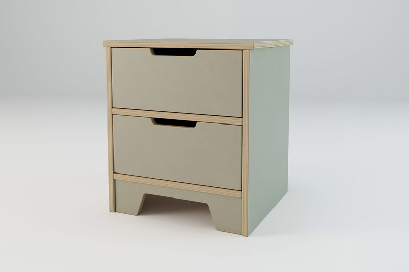 Axis 2 Drawer Bedside Table