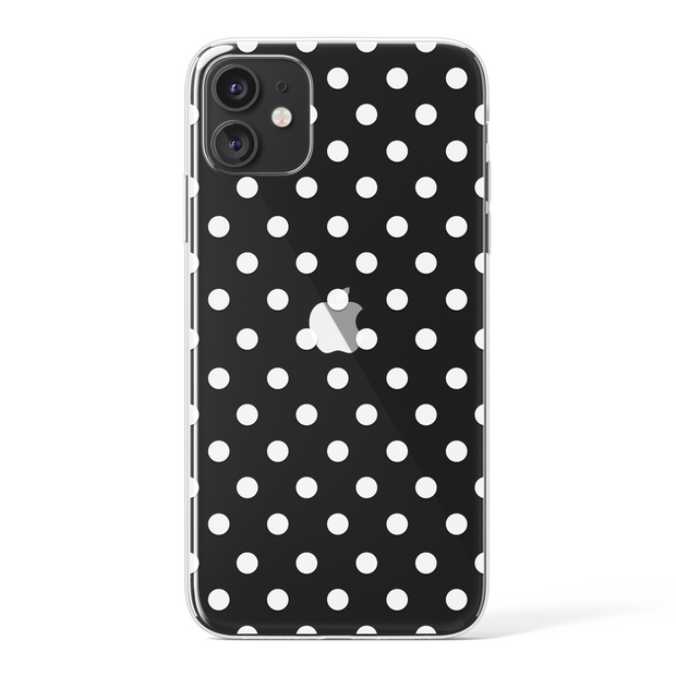 Transparent Polka Dots - White