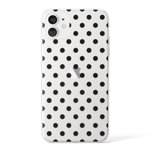 Transparent Polka Dots - Black