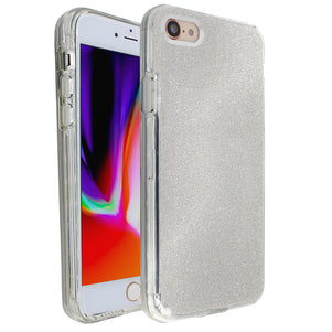 Silver Sparkle Ibrido Case for iPhone 7/8