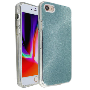 Blue Sparkle Ibrido Case for iPhone 7/8