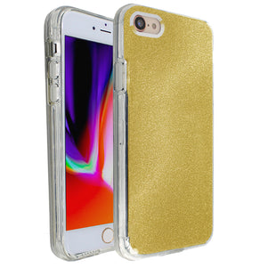 Yellow Sparkle Ibrido Case for iPhone 7/8