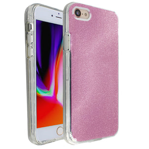 Rose Pink Sparkle Ibrido Case for iPhone 7/8