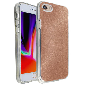 Rose Gold Sparkle Ibrido Case for iPhone 7/8