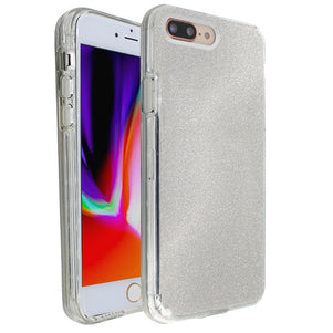 Silver Sparkle Ibrido Case for iPhone 7/8 Plus