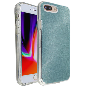 Blue Sparkle Ibrido Case for iPhone 7/8 Plus