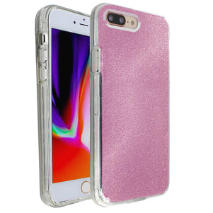 Rose Pink Sparkle Ibrido Case for iPhone 7/8 Plus