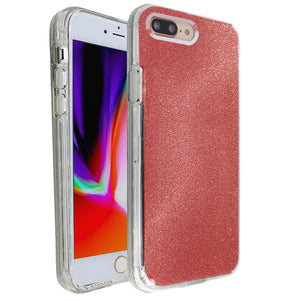 Red Sparkle Ibrido Case for iPhone 7/8 Plus
