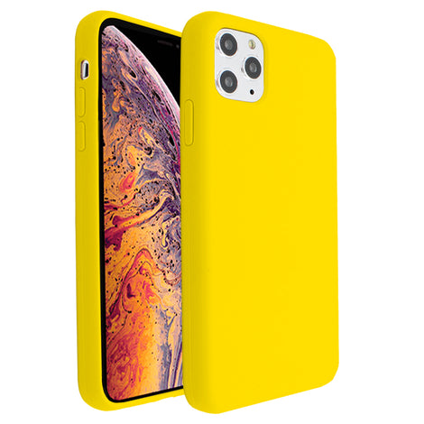 Yellow Silicona Case for iPhone 11 Pro Max
